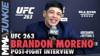 Brandon Moreno: 'I won' title after Figueiredo presser push | UFC 263 interview