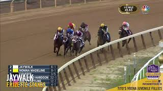 REPLAY: The Frizette's field of Juvenile Fillies was no match for J...