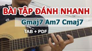 Bài tập giúp ĐÁNH NHANH khi solo guitar | Học guitar online | HocDanGhiTa.Net