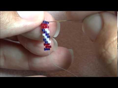 Red, White & Blue Tube Earrings