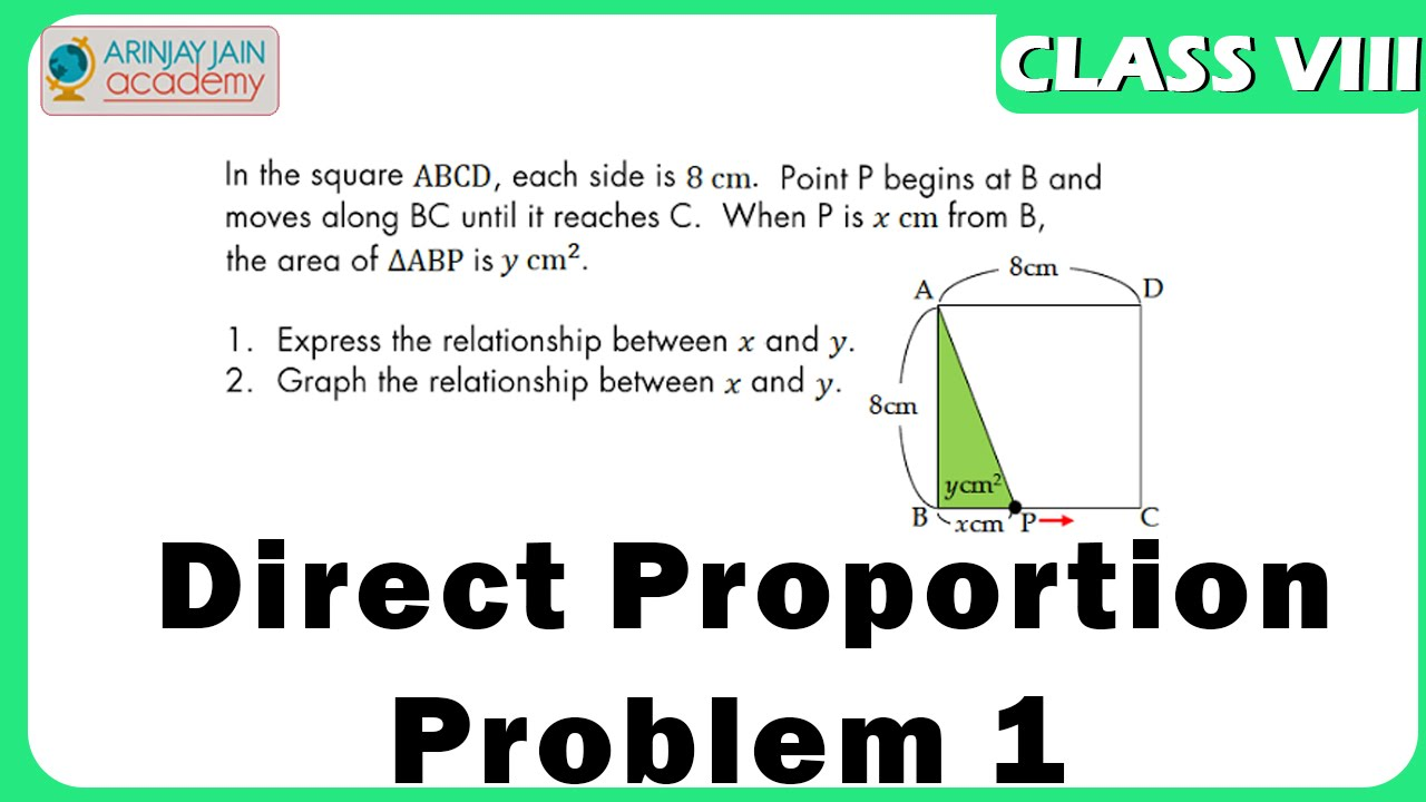 Direct Proportion Problem 1 - Maths Class VIII - CBSE/ ISCE/ NCERT ...