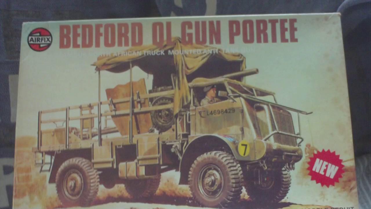 Review Vintage Airfix 1976 135 Scale Bedford Ql Gun