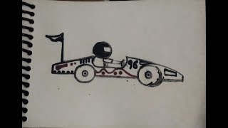 Go kart drawing