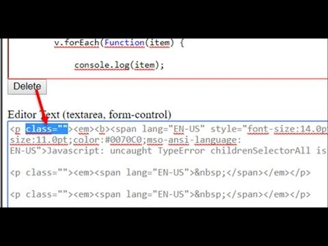 Remove Class In JavaScript HTML