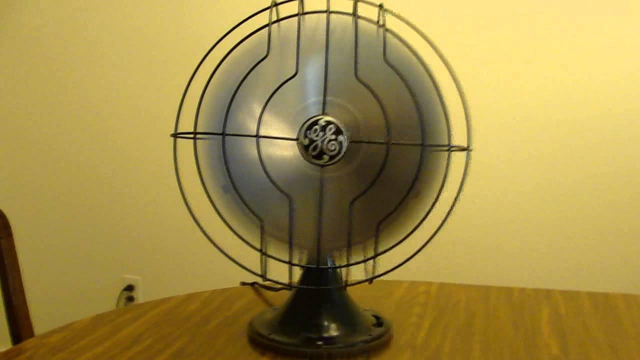 1936 Ge Quiet Blade 12 Desk Fan You
