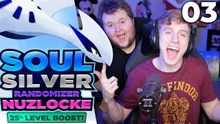 BRAND NEW SETUP!! | Pokemon Soul Silver Randomizer Nuzlocke [25% Level Boost!] Part 3