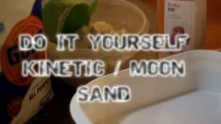 How to make Kinetic Sand Moon Sand