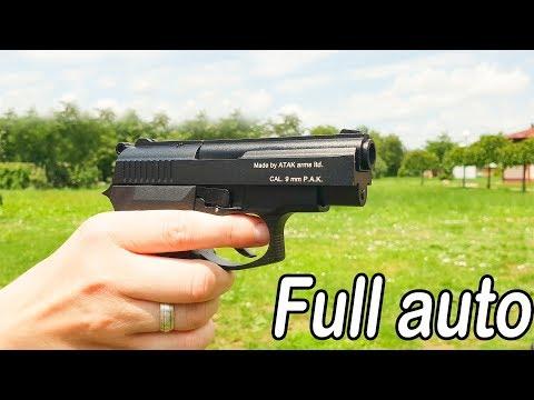 Black Zoraki 914  Full  auto  9mm  Blank Gun