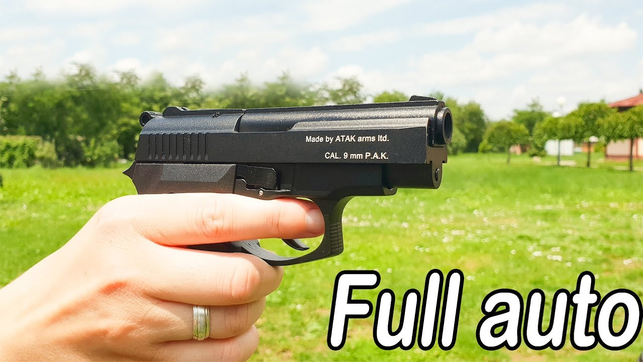 Black Zoraki 914 Full auto 9mm Blank Gun