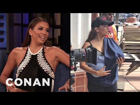Eva Longoria Wants To Normalize Motherhood - CONAN on TBS