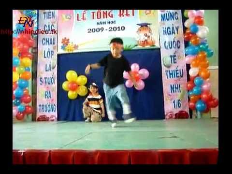 http://nhipdieu.tk - biểu diễn hip hop mầm non HA