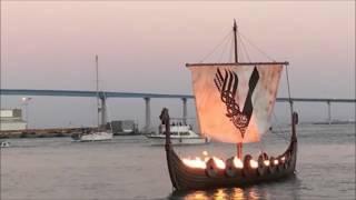 45-Foot Viking Longship Set Ablaze During San Diego Comic Con