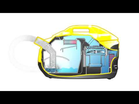 krcher vacuum cleaner ds 5800 water filter technology animation - Vacuum Cleaners With Water