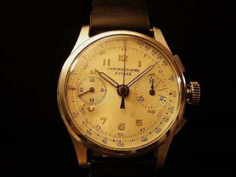 Chronographe Suisse Cronografo Cal.Landeron 51, anni '40