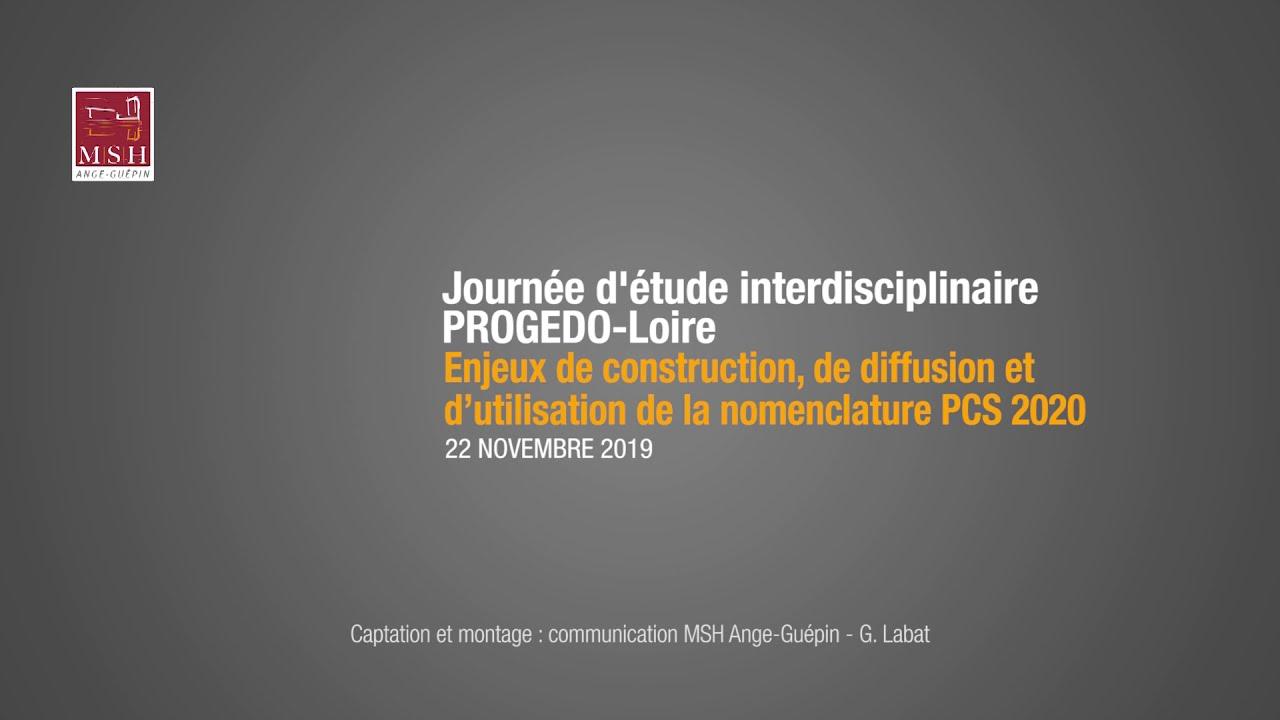 Youtube Video: Enjeux de construction, de diffusion et d'utilisation de la nomenclature PCS 2020 1/7