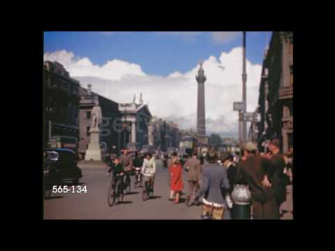 Rare Dublin 1940s Colour Film.