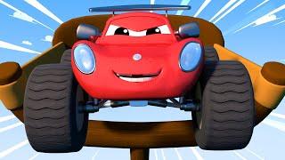 Детские мультфильмы с грузовиками Детские мультики с грузовиками ГИГАНТСКАЯ рогатка