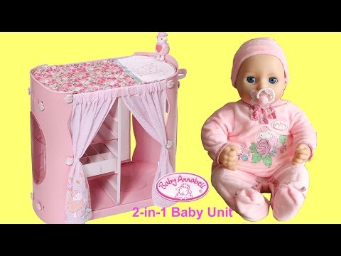 Baby Annabell 2-in-1 Baby Unit : Baby Doll Wardrobe and Changing Table -Taking care of Baby Dolls