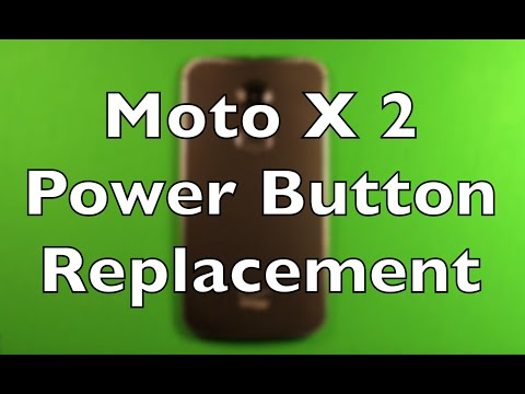 Moto X (2nd Gen) Power Button Switch Replacement How To Change