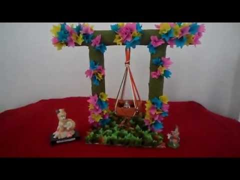 Craft 2014 handmade jhula for balgopal youtube for How to make jhula at home