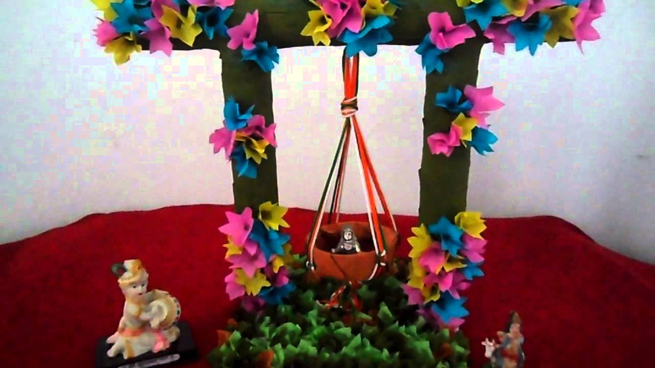 Cute Thakurji Swing Decoration Photo Gallery for free download