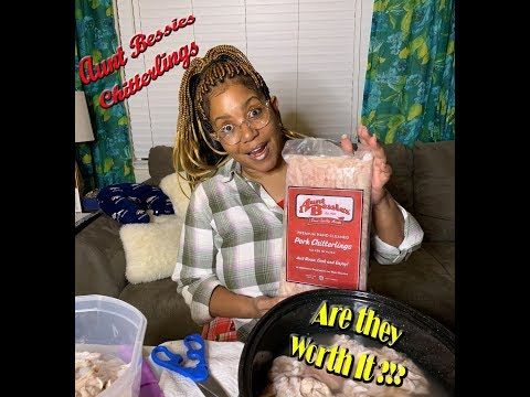 AUNT BESSIE'S CHITTERLINGS | ARE THEY WORTH IT?!