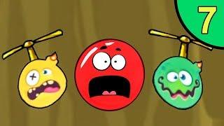Несносный КРАСНЫЙ ШАР против монстров #7. Каменная пещера 1. Мультик ИГРА Red Ball на Игрули TV