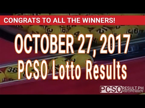 PCSO Lotto Results Today October 27, 2017 (6/58, 6/45, 4D, Swertres & EZ2)