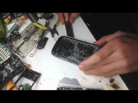 samsung i9300 galaxy s3 glass changing by siraj khan in cape town 1 minute