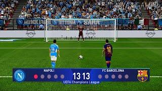 Gambar cover PES 2020 | Napoli vs Barcelona | UEFA Champions League UCL | Penalty Shootout | Gameplay PC