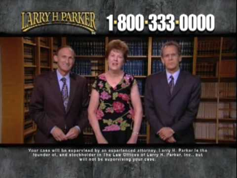 Larry H  Parker TV Commercial - Auto Accident Attorney Hits A Home Run