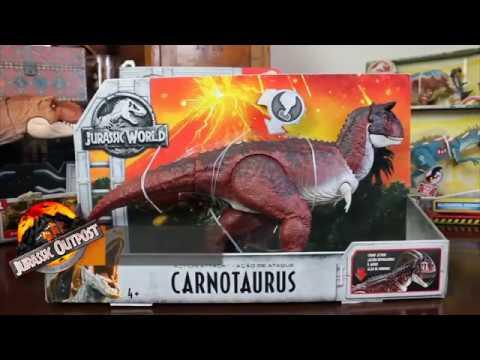 Download Youtube: Mattel Jurassic World Fallen Kingdom Action Attack Carnotaurus Review!