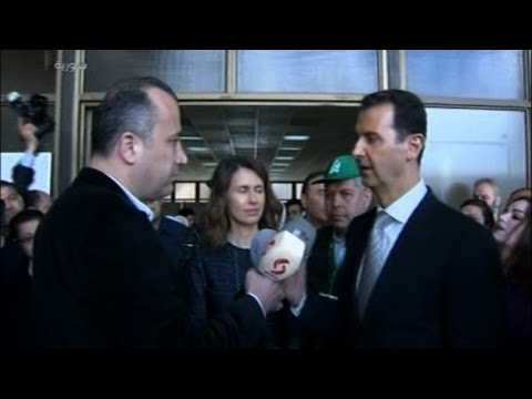 Bashar al-Assad casts his vote in Syrian parliamentary elections