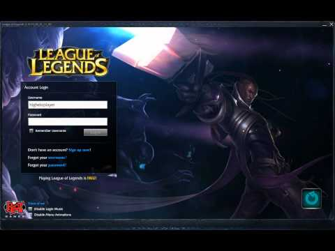 Lucian, The Purifier. Login Screen Intro HQ