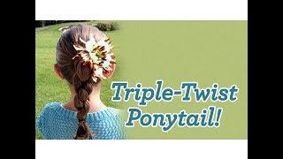 Triple-Twist Ponytail   Cute Girls Hairstyles