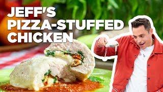 Jeff Mauro Makes Pizza-Stuffed Chicken | Food Network