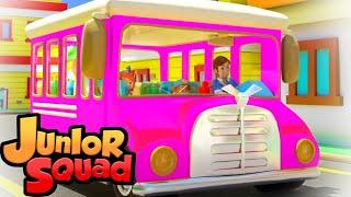 колеса на автобусе детские песни развивающий мультфильм Junior Squad Russia потешки