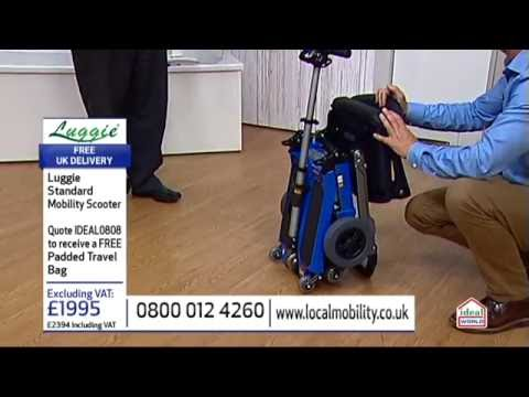Luggie Folding Mobility Scooter Live on Ideal World Television