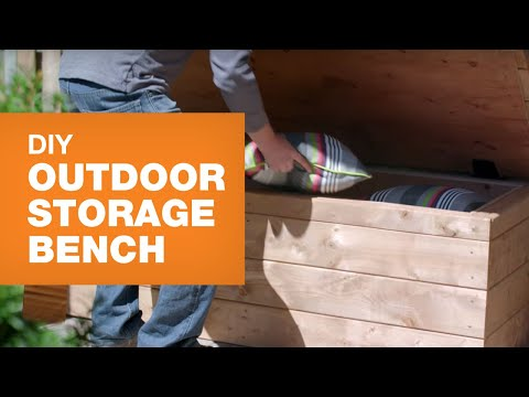 DIY Outdoor Storage Bench