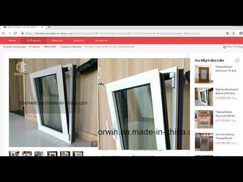 Powder Coating White Color Thermal Break Aluminum Casement Windows by  DoorwinGroup com