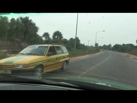 Drive to Kotu from Banjul International Airport, The Gambia on 2nd November 2016