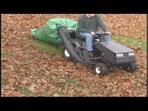Your Lawn Tractor Collects Huge Amounts Of Leaves With Monster Leaf Bag Attached