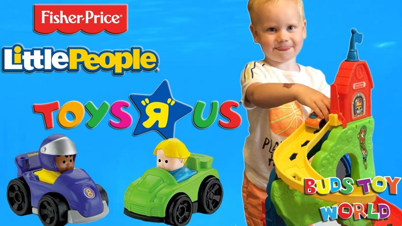 FISHER PRICE LITTLE PEOPLE CITY SKYWAY FUN TOY REVIEW WITH SURPRISE ...