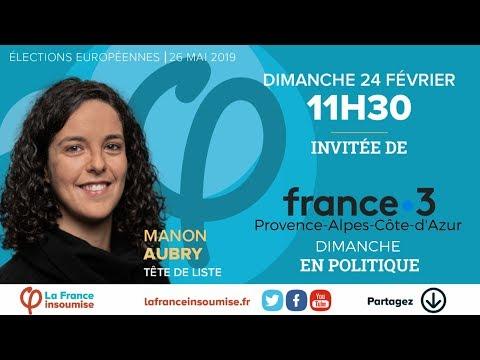 Manon Aubry (LFI) est l'invitée de Dimanche en politique