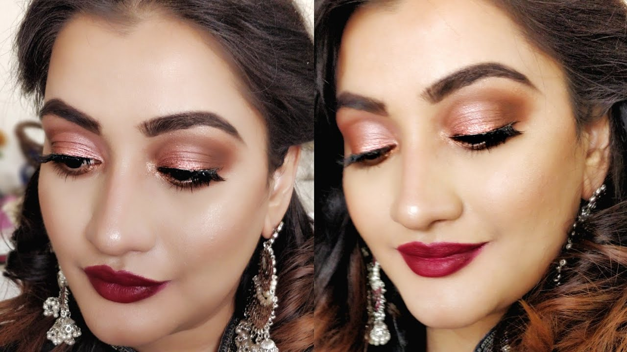 Indian Wedding Guest Makeup Tutorial Easy Party Makeup Look For