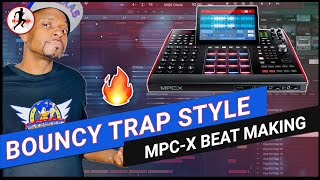 MPX Beat making - a bouncy trap beat - MPC Live 2, MPC One