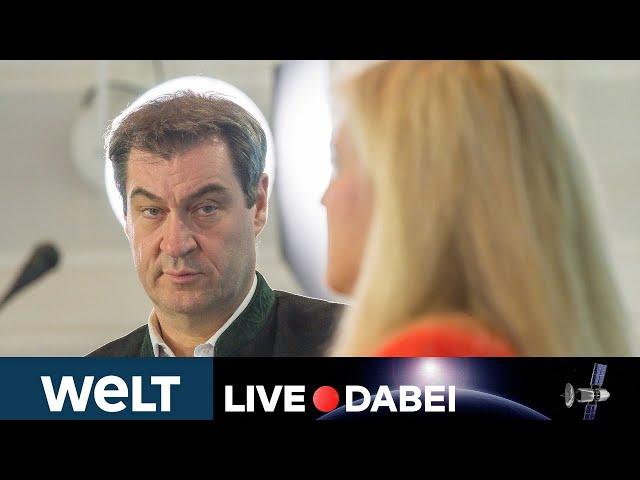 CORONA-TESTDESASTER - BAYERN: Statement von Ministerpräsident Söder und Gesundheitsministerin Huml