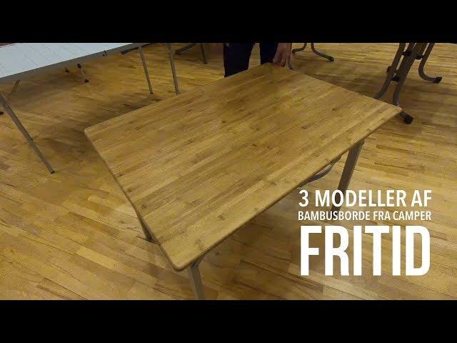3 modeller i bambusborde fra Camper Fritid
