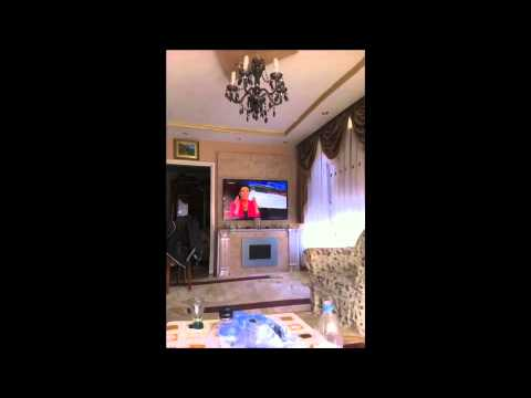 TV - Wand mit Kamin LED - YouTube