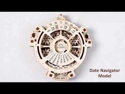 【海思】Ugears -日期領航者 Date Navigator 來自烏克蘭.橡皮筋動力.機械驚奇 ! 科學玩具